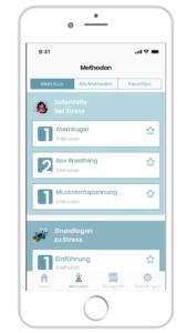Soforthilfe bei Stress mit der STEIG'-App